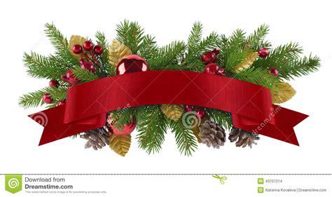 festive garland christmas element stock photo image