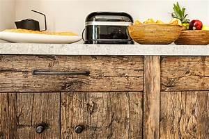 Meuble De Cuisine En Bois : meuble cuisine facade bois chene ancien laurent passe ~ Dailycaller-alerts.com Idées de Décoration