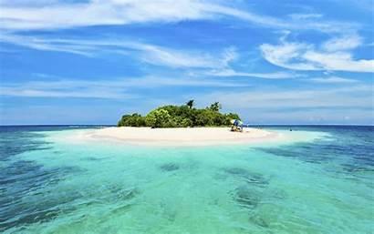 Ocean Island Middle Beach Sandy Desktop Backgrounds