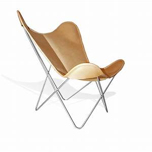 Butterfly Chair Original : cover for hardoy butterfly chair original leather honey brown weinbaums ~ Frokenaadalensverden.com Haus und Dekorationen