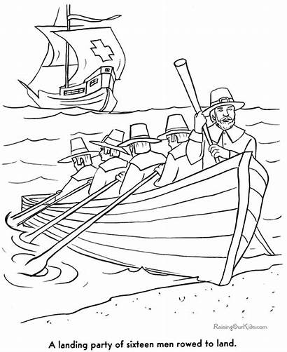 Coloring Pages Thanksgiving Pilgrims History Story Pilgrim