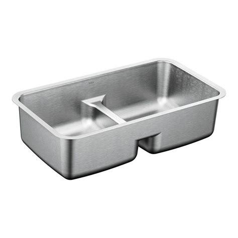 moen undermount kitchen sinks moen 1800 series undermount stainless steel 32 5 in 7841
