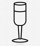 Champagne Flute Coloring Clipart Glass Pinclipart sketch template