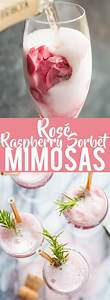 Rosé Raspberry Sorbet Mimosas | well, this looks delicious ...