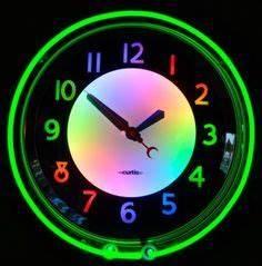 Image Gallery neon clocks