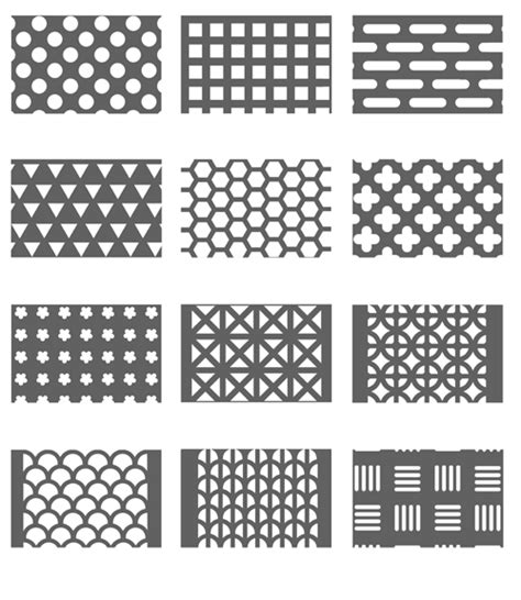 hole pattern perforated metal cn perforated metal