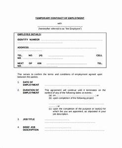 sample employment contract forms 11 free documents in With free temporary employment contract template