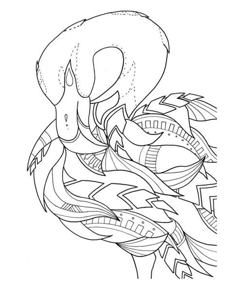 flamingo coloring page pre framed flamingo coloring page by syvanahbennett on