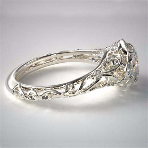vintage filigree diamond engagement rings by james allen