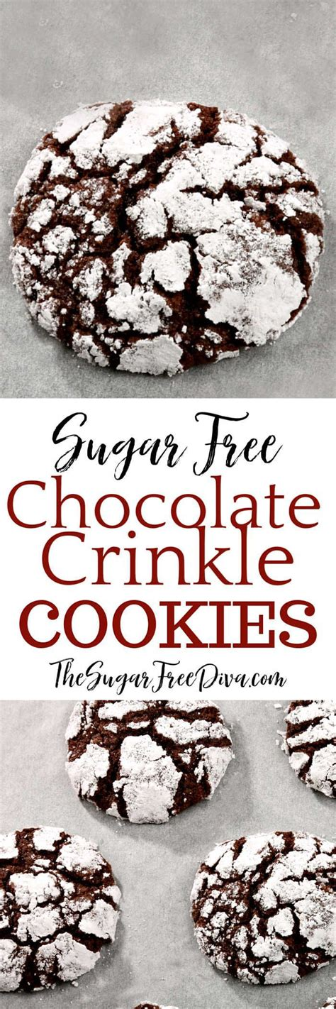 Be sure to use baking sticks instead of spreads. Sugar Free Chocolate Crinkle Cookies #sugarfree #chocolate #holiday #Christmas #cookies #baked # ...