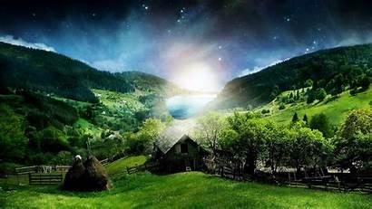 Nature Jungle Widescreen Moonlight Wallpapers Resolution Background