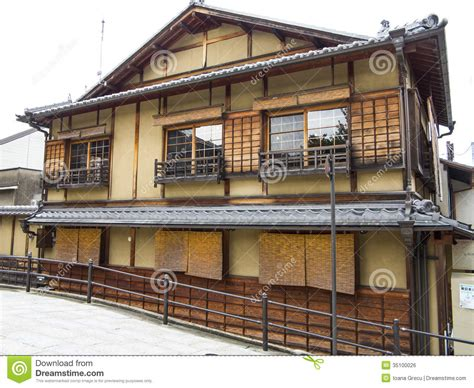 japanese house facade traditional japanese house stock photo image of kyoto 35100026