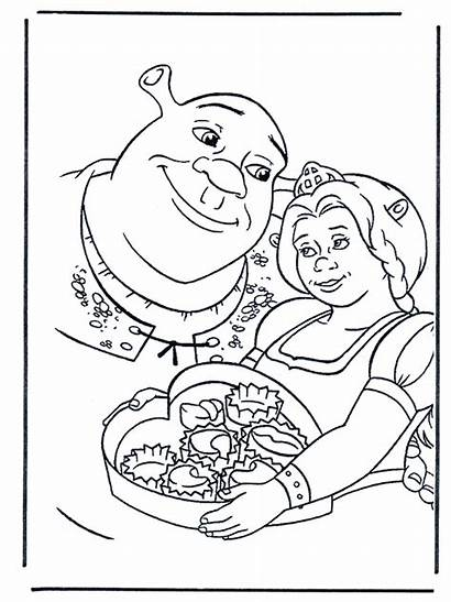 Shrek Coloring Pages Fiona Disney Printable Characters