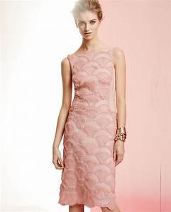 Lyst - Tadashi Shoji Sleeveless Lace Sequin Pattern ...