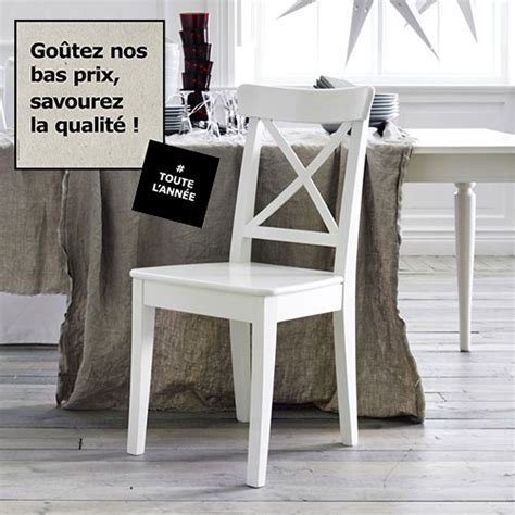 chaises blanches ikea table salle a manger blanche ikea