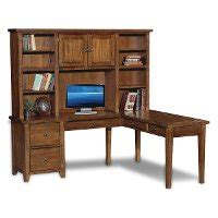 Office Furniture Utah County by Rustic Brown Corner Computer Desk With Hutch Cross