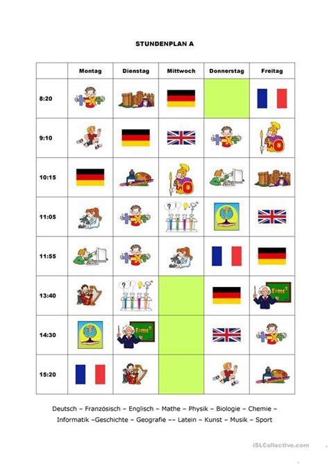 stundenplaene  images worksheets resources
