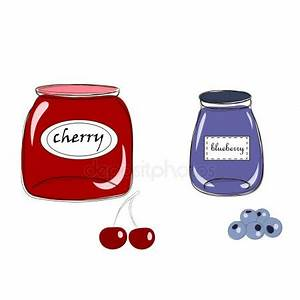 Gläser Für Marmelade : niedliche etiketten f r beeren marmelade stockvektor 7romawka7 104486854 ~ Eleganceandgraceweddings.com Haus und Dekorationen