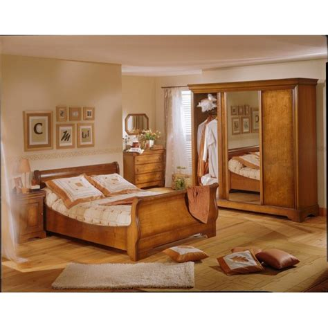 chambre merisier chambre louis philippe merisier sabrina lit commode