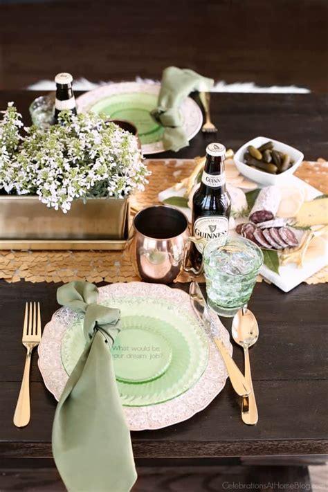 irish themed dinner party  st patricks day celebrations  home