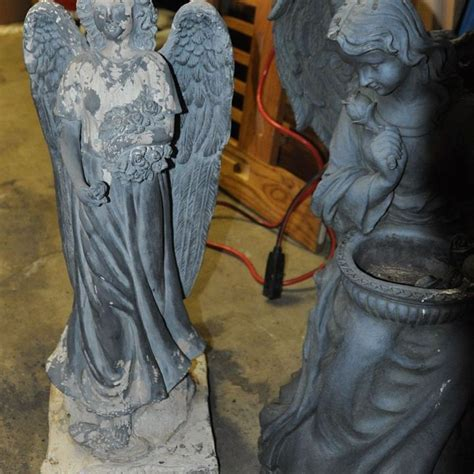Hometalk   Where To Get Material To Paint Faded Resin Statues
