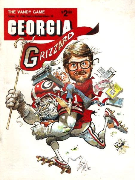 1986 Uga Vs Vandy Program Cover Georgia Dawgs Uga