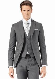 Costume Pour Homme Mariage : costume 3 pi ces gris moyen jean de sey costumes de mariage pour homme et accessoires ~ Melissatoandfro.com Idées de Décoration