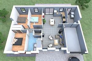 plan maison 90m2 3d With construction de maison en 3d