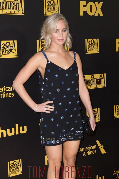 Jennifer Lawrence in Versace at the Fox and FX's Golden
