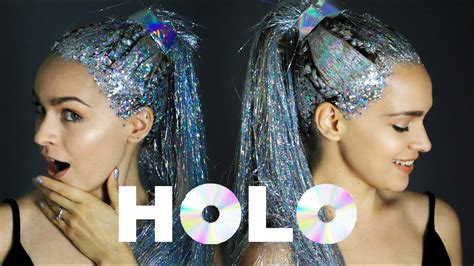 holo hair transformation  holographic hair tutorial