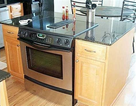kitchen islands with cooktops kitchen islands with slide in cooktop ovens 5273