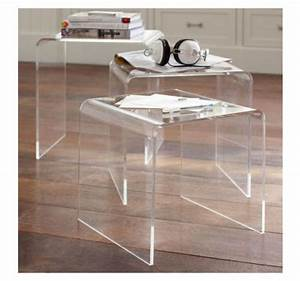 modern acrylic nesting end table coffee table 3pc lucite With acrylic nesting coffee table