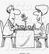 Restaurant Cafe Cartoon Coloring Pages Couple Template Dining sketch template