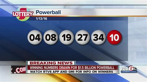 Winning Numbers Drawn For $15b Powerball Youtube