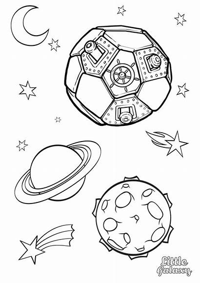 Space Colouring Galaxy Pages Themed Coloring Printable