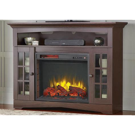 tv stands with fireplaces home decorators collection avondale grove 48 in tv stand