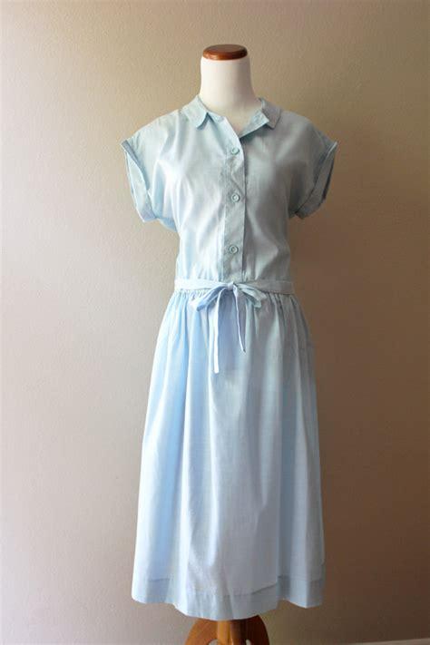 light blue vintage dress vintage 1950s light blue dress wendy darling medium
