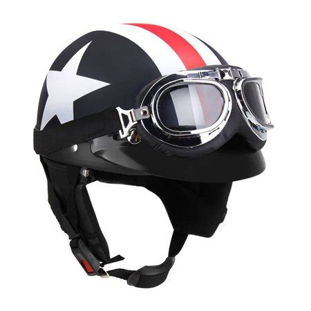 open face motorcycle helmet  goggles visor scarf
