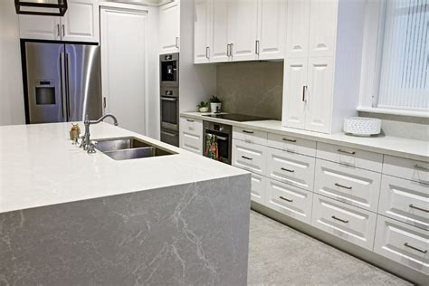 kitchen cabinets in gray kerry selby brown design caesarstone kitchens 6131
