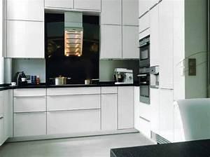 idee deco pour cuisine blanche et grise With d co pour cuisine grise