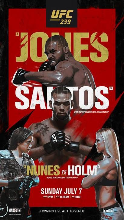 Ufc 239 Poster Event Santos Como Poster