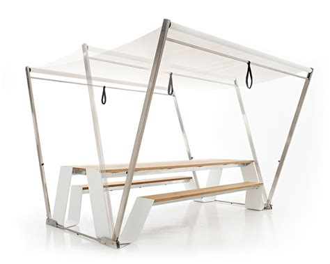 large portable folding picnic table with wooden attached