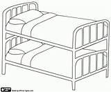 Bunk Bed Coloring Pages Beds Printable Household Table Standard Furniture Mattresses Stacked Directly Same Oncoloring Sofa sketch template