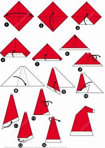 How To Make An Origami Santa Cap Step By Step Instructions