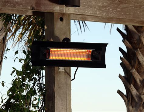 22 gobi black steel wall mounted infrared patio heater