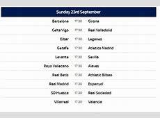 Spanish La Liga 201819 Schedule Released date & Teams List