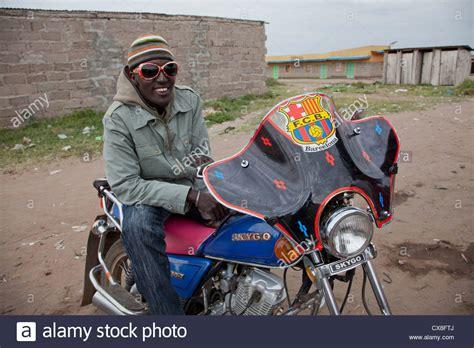 Boda Boda Motorbike Taxi Run Masai Stock Photos & Boda