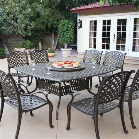 darlee patio furniture sets darlee nassau 9 cast aluminum patio dining set with