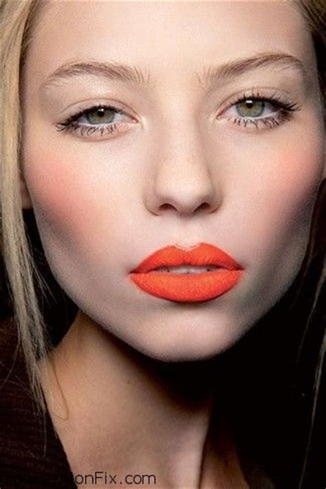 wear  orange lip makeup  tutorial fab fashion fix