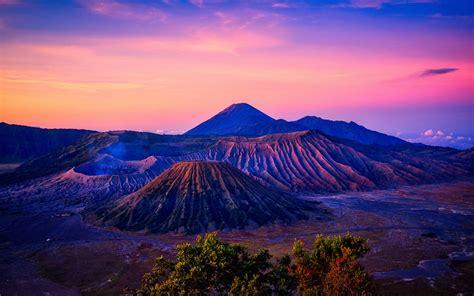 mount bromo volcano sunrise  wallpapers hd wallpapers